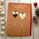 Personalised Couple's Christmas Pudding Card