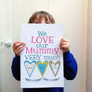 Personalised Mummy's Heart Big Card