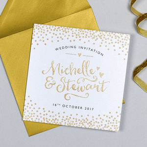Glitter And Sparkle Wedding Invitation - what's new