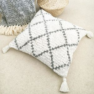 Shaggy Geometric Moroccan Cushion - our top new picks