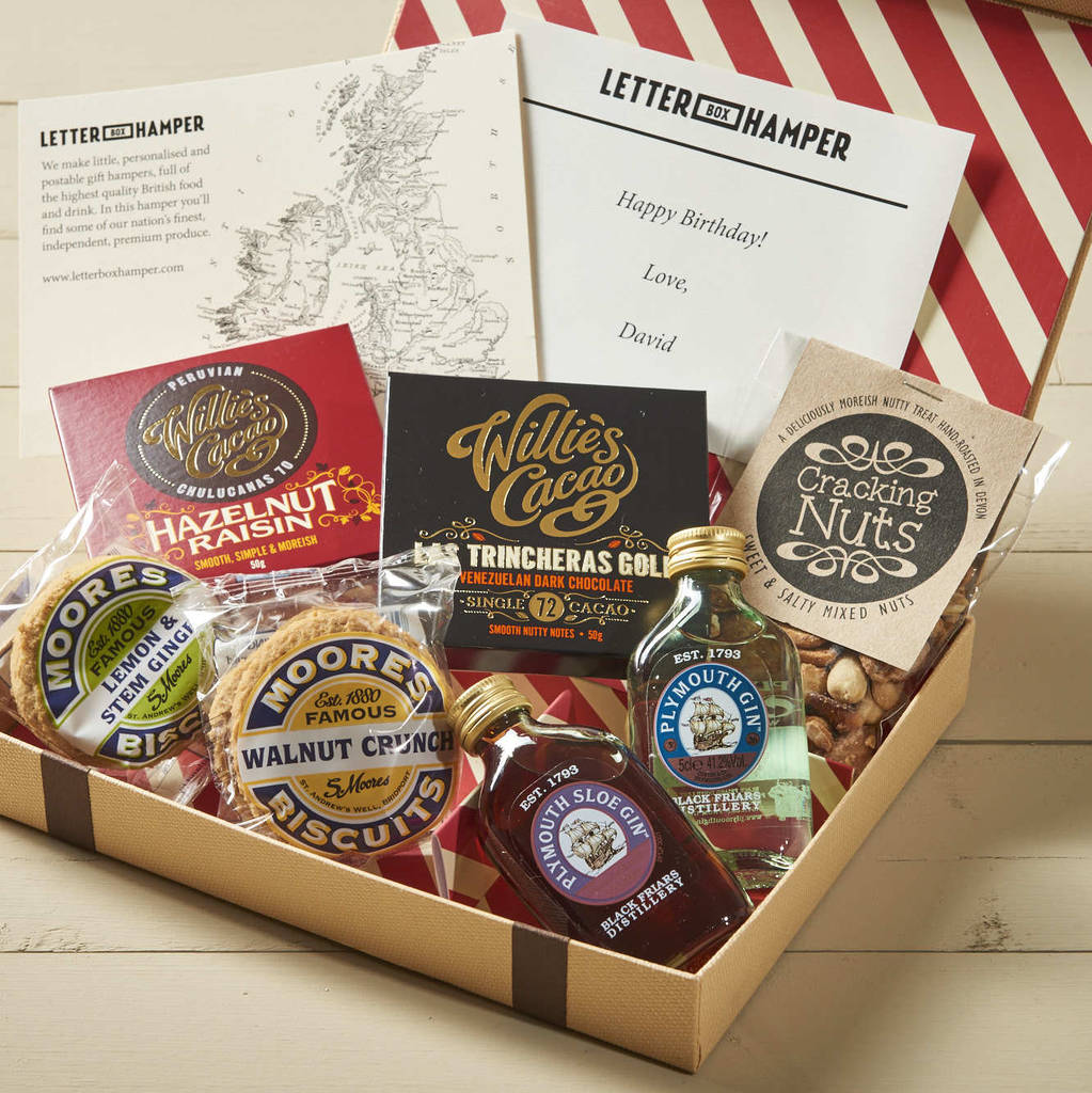 Uk hampers fine food wine gifts for home delivery remember personalised letter box hamper for gin lovers solutioingenieria Gallery