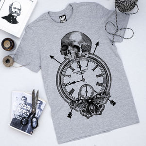 'Time Flies' Print T Shirt
