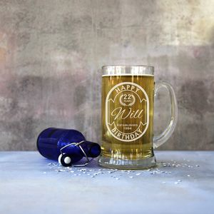 Personalised Giant Two Pint 'Happy Birthday' Tankard - glassware
