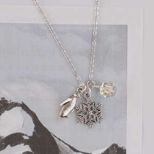 Christmas Penguin Charm Necklace