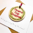 'First Christmas' Keepsake Pendant Card