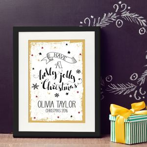 Have A Holly Jolly Christmas Personalised Print