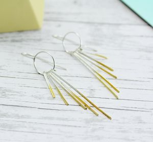 Shimmer Drop Earrings - earrings