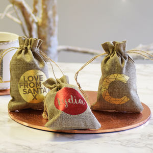 Personalised Name Place Wedding Favour Sacks