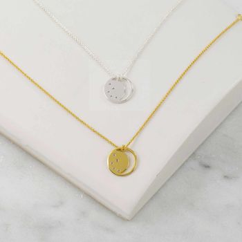Gold Necklace With White Topaz