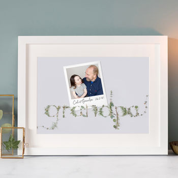 Personalsed Photo Print For Grandpa