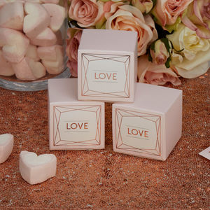 Blush Rose Gold Wedding Favour Box - DIY favours