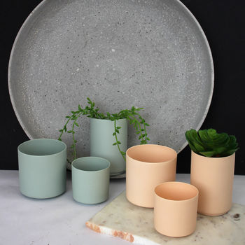 Trio Of Mint Or Blush Coloured Votive Pots
