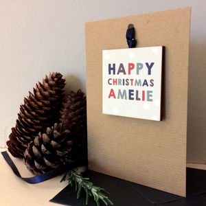 Personalised Christmas Keepsake Card