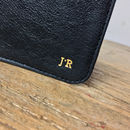Personalised Leather Card Holder Black