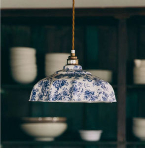 Campbell Blue Imari Pendant Light - lighting