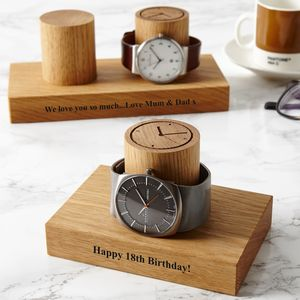 Personalised 18th And 21st Birthday Watch Stand