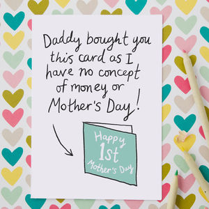 Funny First Mother's Day Card