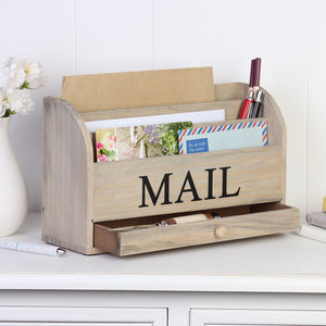Wooden Mail Rack - children's room
