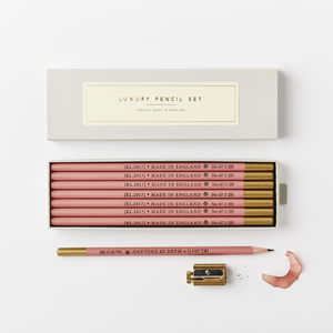 Dark Pink 2 H Pencil Set - stylish stationery ideas