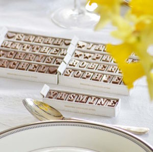 Personalised Chocolate Place Names - wedding favours