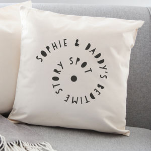 Personalised Bedtime Story Spot Cushion - living & decorating