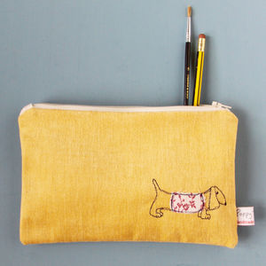 Dachshund Embroidered Purse