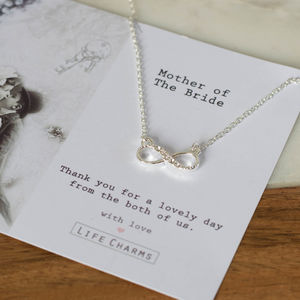 Mother Of The Bride Crystal Infinity Necklace