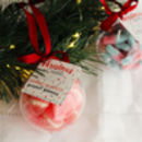 Strawberry And Prosecco Gummies Christmas Bauble