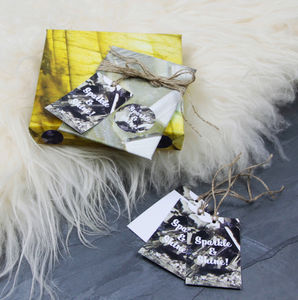 'Sparkle And Shine' Festive Luxury Gift Tags