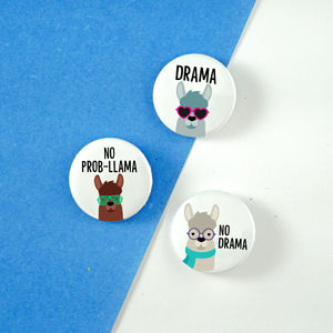 Llama Button Badges