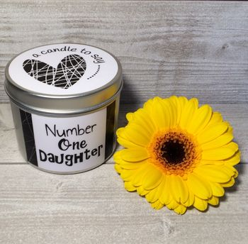 Number One Daughter Candle