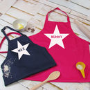 Parent And Child Personalised Apron Set