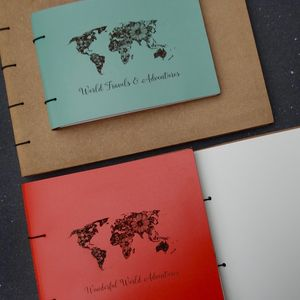 Personalised Leather Adventure Journal Photo Album - diy & craft