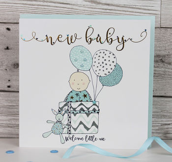 New Baby Card For Boy And Girl