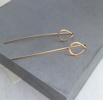Teardrop Threadthrough Earrings