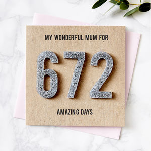 Personalised Amazing Days Together Card - mother's day cards