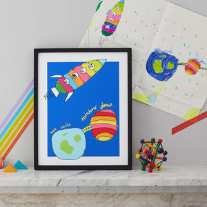Personalised Artwork Print From Your Children's Drawing - children's room