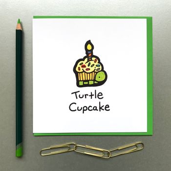Birthday Cupcake Turtle Card