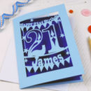Personalised Papercut 21st Birthday Card