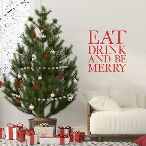 'Eat Drink & Be Merry' Wall Sticker - kitchen