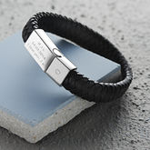 Men's Engraved Message Bracelet - sale