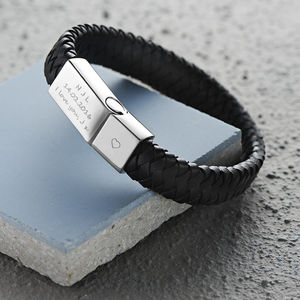 Men's Engraved Message Bracelet - birthday gifts
