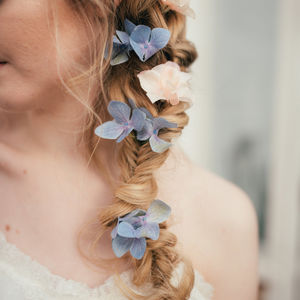 Eleanor Hydrangea Hair Pin - wedding fashion