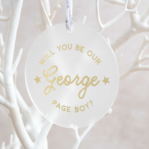 Will You Be Our Page Boy Proposal Keepsake - favours for children