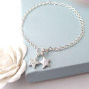 Personalised Silver Star Bracelet