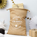 Personalised Made In The North Pole Christmas Sack