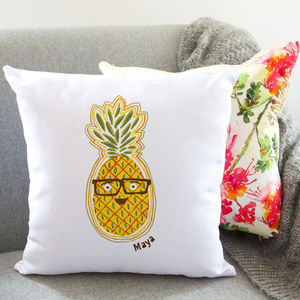 Personalised Funny Pineapple Cushion / Round Or Square - cushions