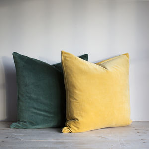 Velvet Cushions - bedroom