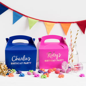 Personalised Children's Party Boxes - wedding favours