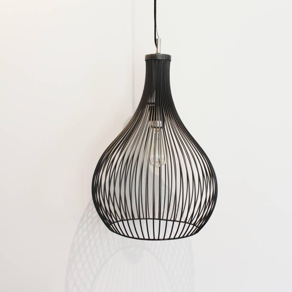 cage lighting. Pewter Metal Shallot Shaped Cage Light Lighting